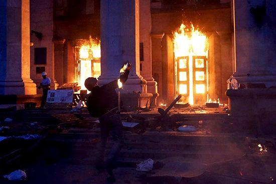 Одесса. Поджог Дома профсоюзов 2 мая 2014 года