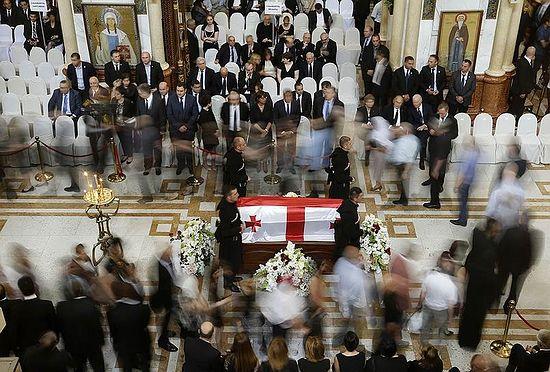 Отпевание Георгия (Эдуарда) Шеварнадзе. Цминда Самеба. Фото: Reuters