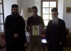 Андреас Ловердос министр образования и религии Греции на Афоне