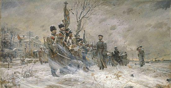 Прощание с конвоем (№1 из Триптиха «Царская Голгофа») 2004 г.