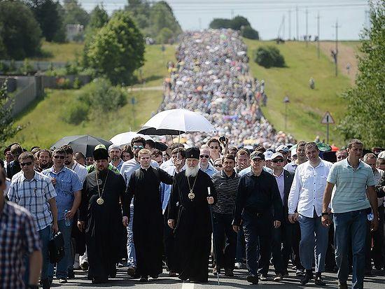 Крестный ход из Хотькова 16 июля 2014 г.