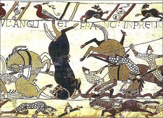 Битва при Гастингсе (Восточный Сассекс) - фрагмент Гобелена из Байё