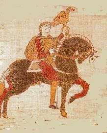 Гарольд II Годвинсон, последний православный король Англии, погибший в битве при Гастингсе (изображение на Гобелене из Байё)