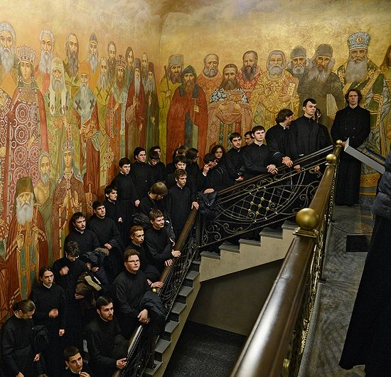 The frescoes in Sretensky Seminary. Photo: S.Vlasov / Patriarchia.ru