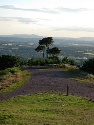 A view from the Clent hills on Clee hills in Shropshire
