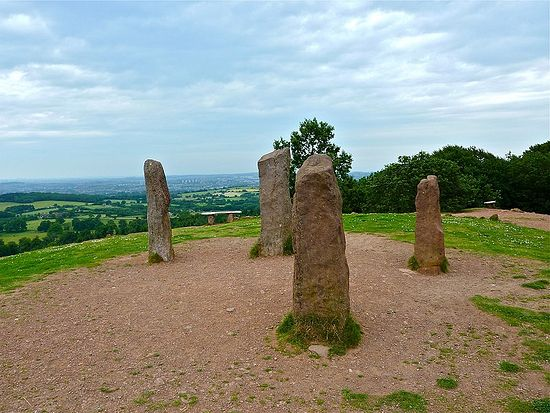 Four stones on the Clent hills, Worcs