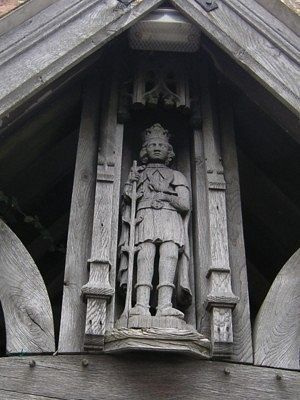 Image of St. Kenelm at the mortuary near the Romsley Church, Worcs