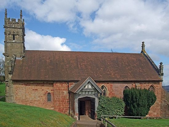 St. Kenelm's Church in Romsley, Worcs, the supposed site of the prince's martyrdom