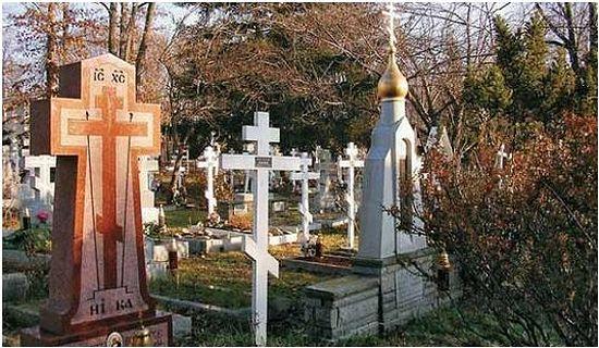 Русское православное кладбище в США.