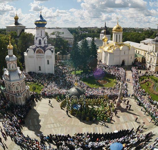 Тројице-Сергијева Лавра на празник преподобног Сергија. Фото: Патриархия.Ru
