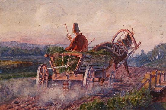 Картинки по запросу телега на сельской дороге ночью