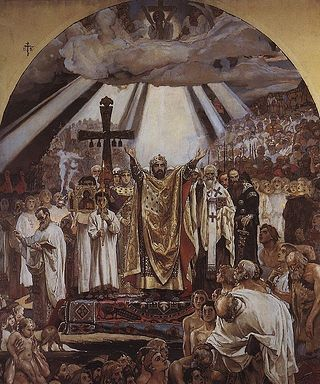 «Крещение Руси». Виктор Васнецов, 1890.