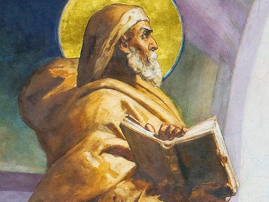 Пророк Илия (фрагмент фрески Преображение Господне)