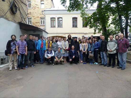 В московском Сретенском монастыре перед отправлением на Север.