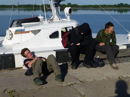Кий-Остров. Перед отправлением из Онеги. Все предельно устали