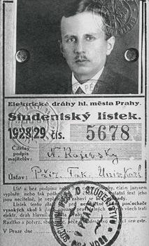 Студенческий билет Н.А. Раевского. Прага, Карлов университет. 1928-1929 учебный год