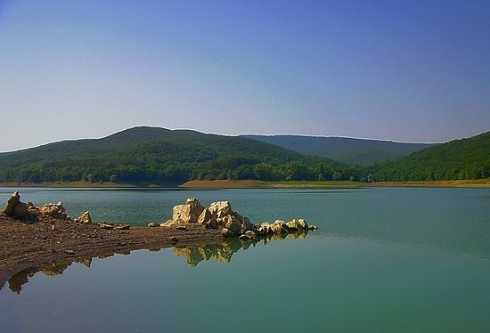 Партизанское водохранилище. Крым