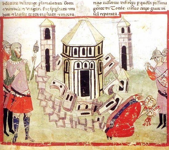 Тотила разрушает Флоренцию. Хроника Виланни