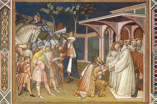 Святой Бенедикт и Тотила