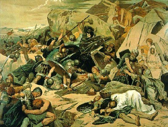 Финальная битва византийцев с готами при Везувии, 552 г.