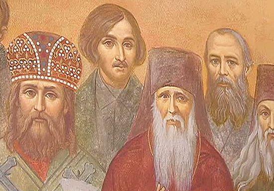 Фрагмент фрески в Сретенской семинарии