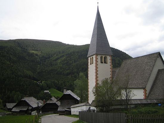 Saint Oswald's church, Bad Kleinkirchheim, Carinthia, one of many churches and place names which commemorate Oswald