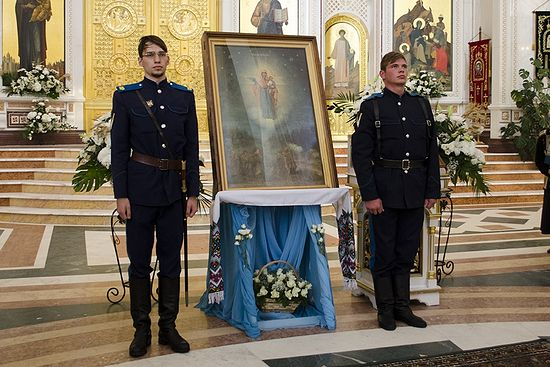Августовская икона Божией Матери в Храме Христа Спасителя в Калининграде