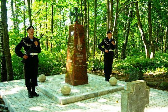 Лития на берегу оз. Виштынец, месте гибели бойцов Уфимского полка. Калининградская область