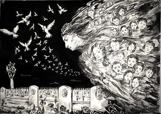 Вадим Цаликов. Память. Город ангелов. Из серии «Беслан. Кадры памяти»