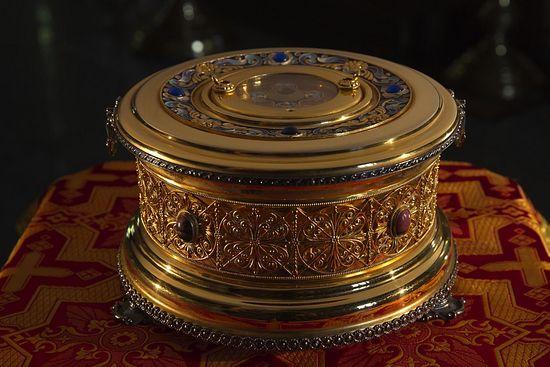 Ковчег с частицей мощей святой мученицы Людмилы, хранящийся в храме святителя Николая в Котельниках