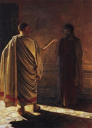 What is truth? Christ before Pilate. Nikolai Ge, 1890