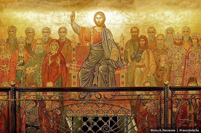 Фреска «Христос равным образом Его ученики». Фото: Православие.Ru