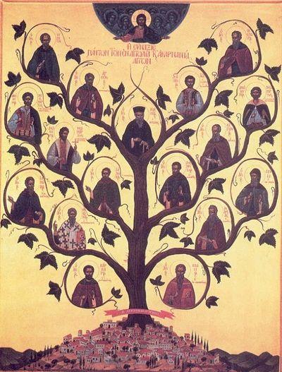Собор Этолийских святых. В центре Косма Этолийский.