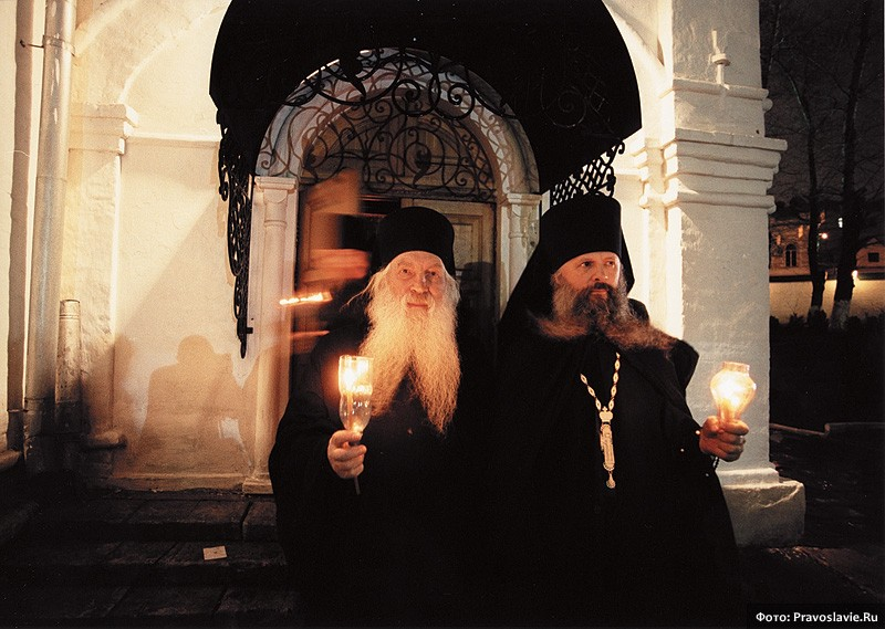 Схиархимандрит Анастасий и инок Аркадий. Фото: Православие.Ru