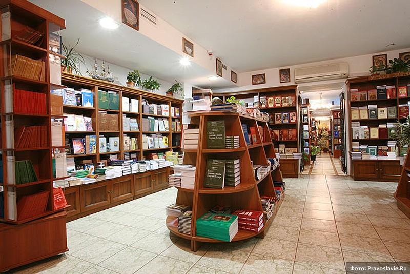 Интерьер магазина «Сретение». Фото: Православие.Ru