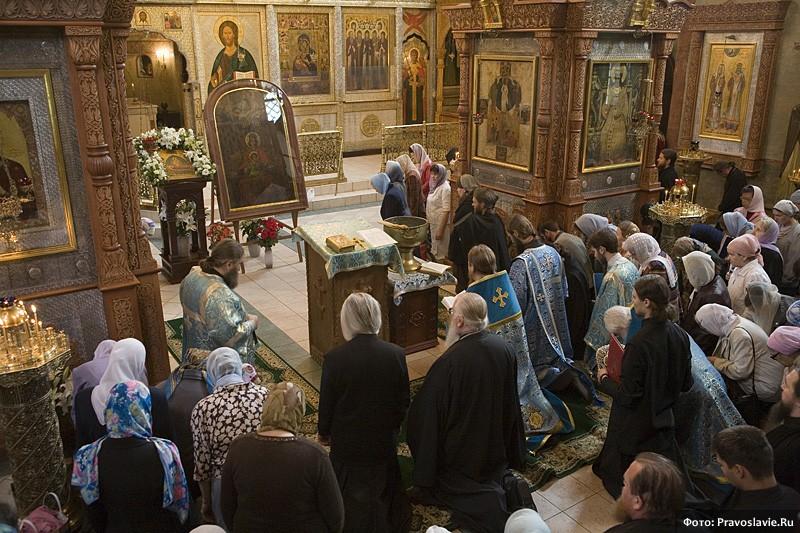 Молебен перед началом кругосветного путешествия с Державной иконой Божией Матери