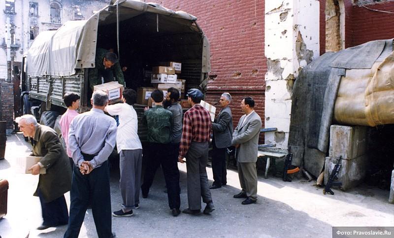 Поездка в Чечню с гуманитарной помощью