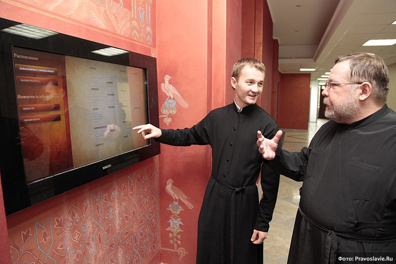 Интерактивные информационные панели. Фото: Православие.Ru