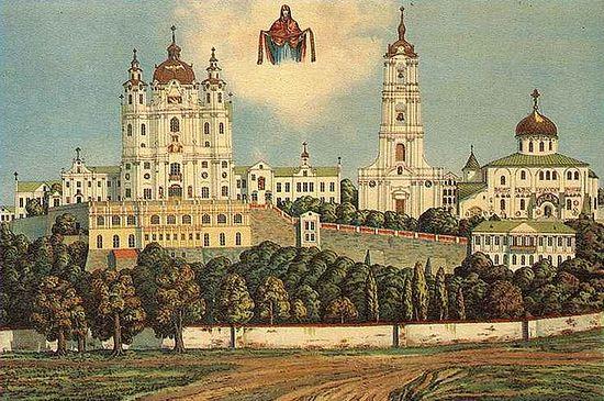 Почаевская Лавра на старой открытке