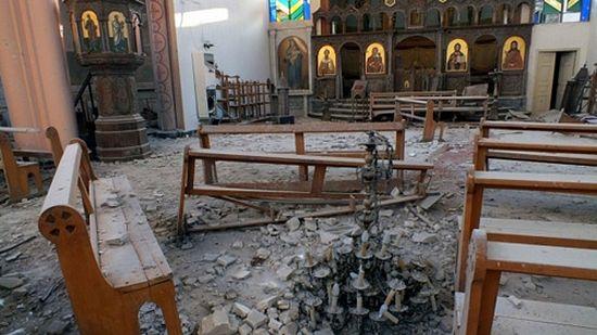 Оскрнављена црква у Сирији