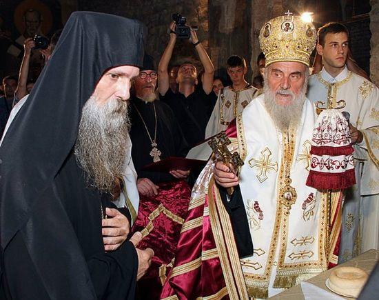 Патриарх Сербский Ириней и епископ Иоанн