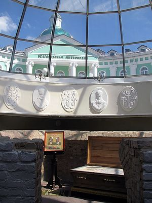 Крипта над пещеркой свт Иоасафа. 7.09.2014