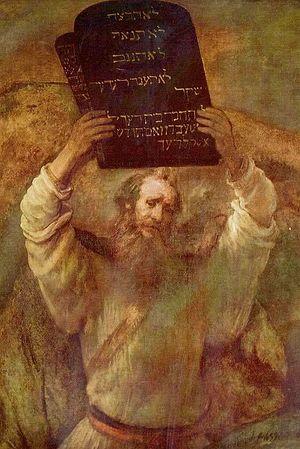 Рембрандт Харменс ван Рейн. Моисей со скрижалями Завета. 1659