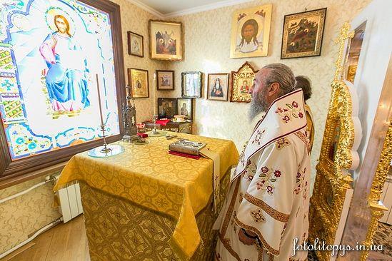 Заседание Синода началось после Божественной литургии в домовом храме резиденции Предстоятеля УПЦ