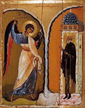 Михаил архангел (чудо в Хонех). Синай XII в.
