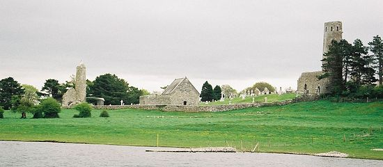 Clonmacnoise, a view from the river.