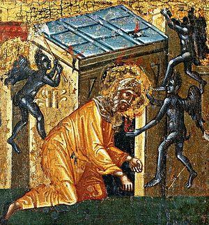 Бесы искушают прп. Антония Великого