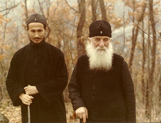 Преподобный Иустин (Попович) и будущий епископ Афанасий (Евтич)