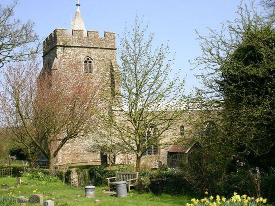 Церковь св. Марии и св. Этельбурги в Лиминдже на месте основанного св. Этельбургой монастыря, Кент