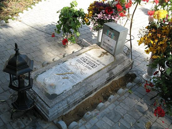 Место погребения преподобноисповедника Кукши Одесского